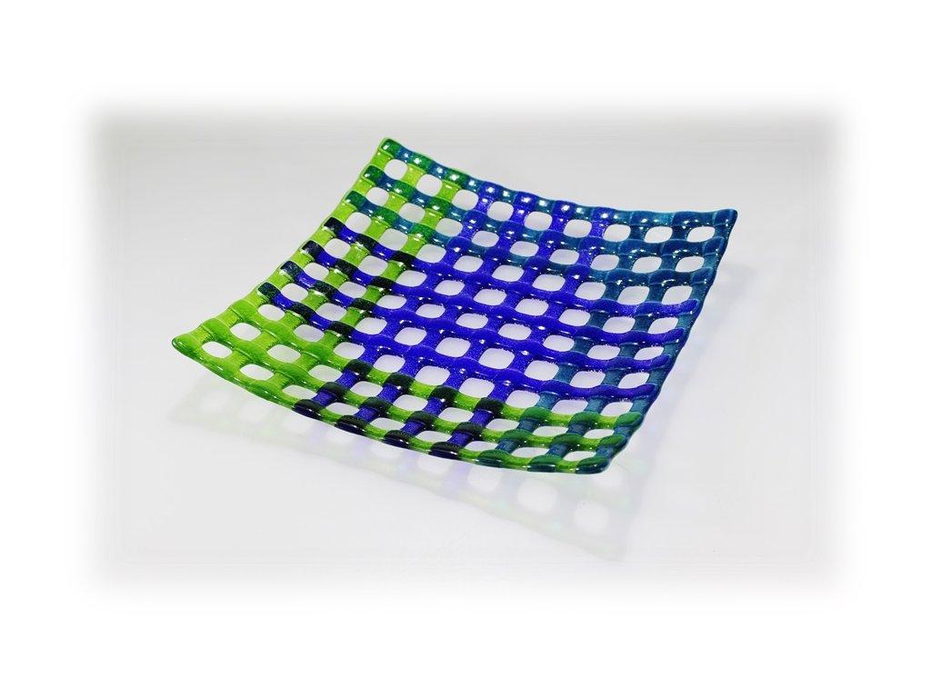 Mísa NET 30x30 modro zelená
