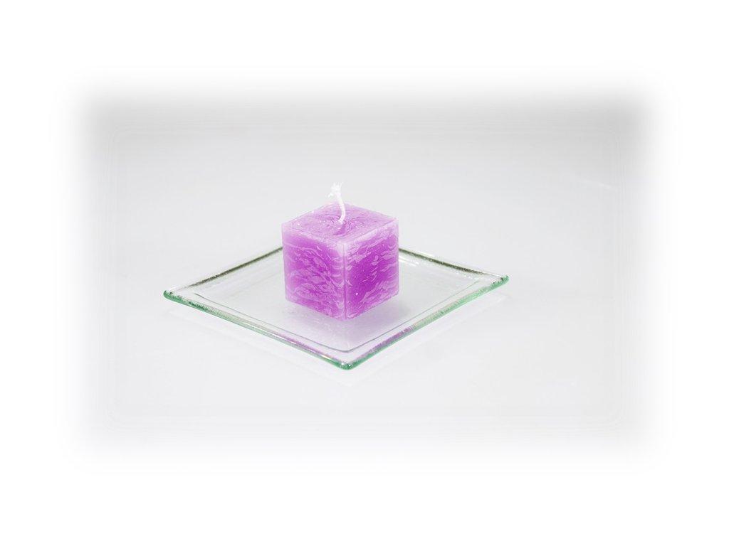 3,5x3,5 svíčka fialová