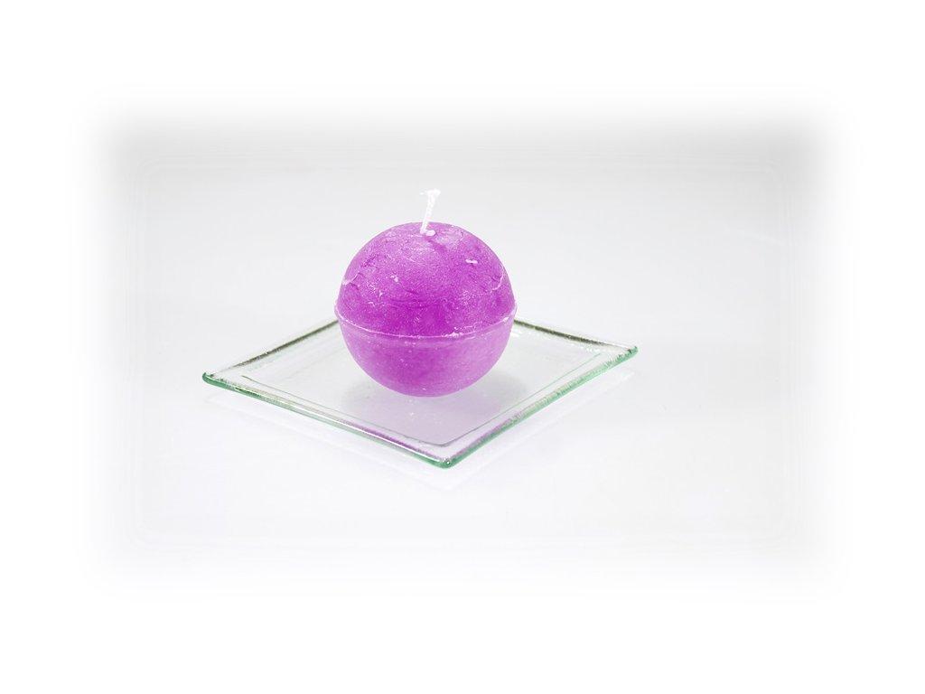 svíčka koule fialová