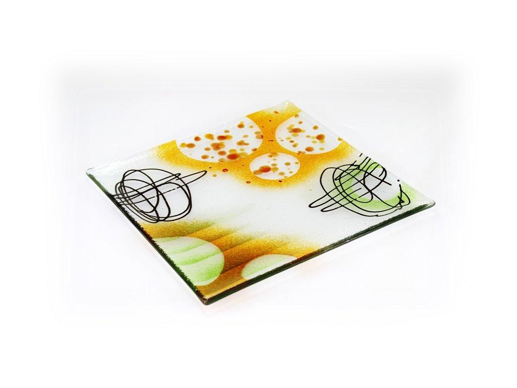 Abstraktní talíř 27x27cm