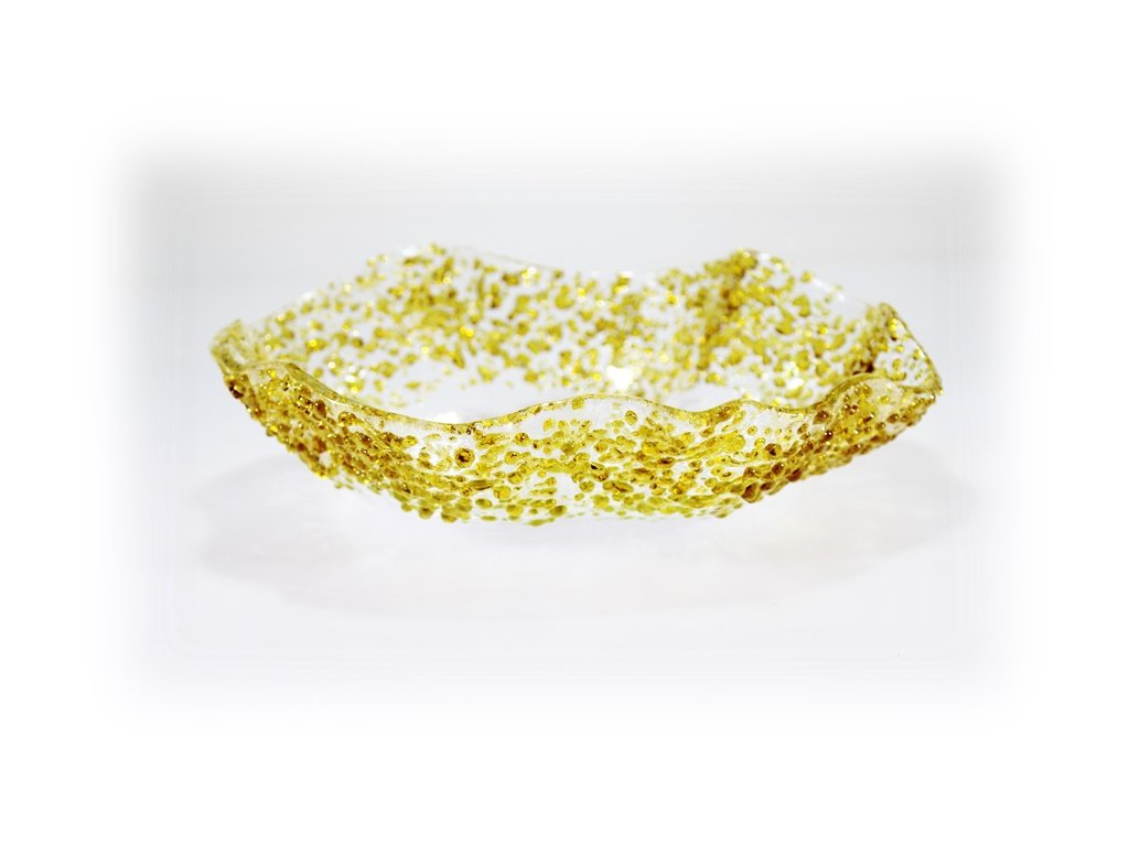 Hluboká mísa SPRINKLES amber 26cm