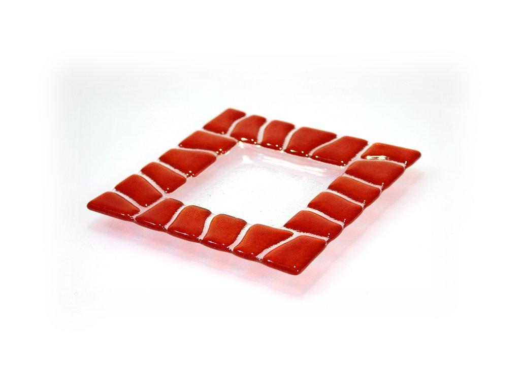 Tácek SAFARI 16x16cm červený
