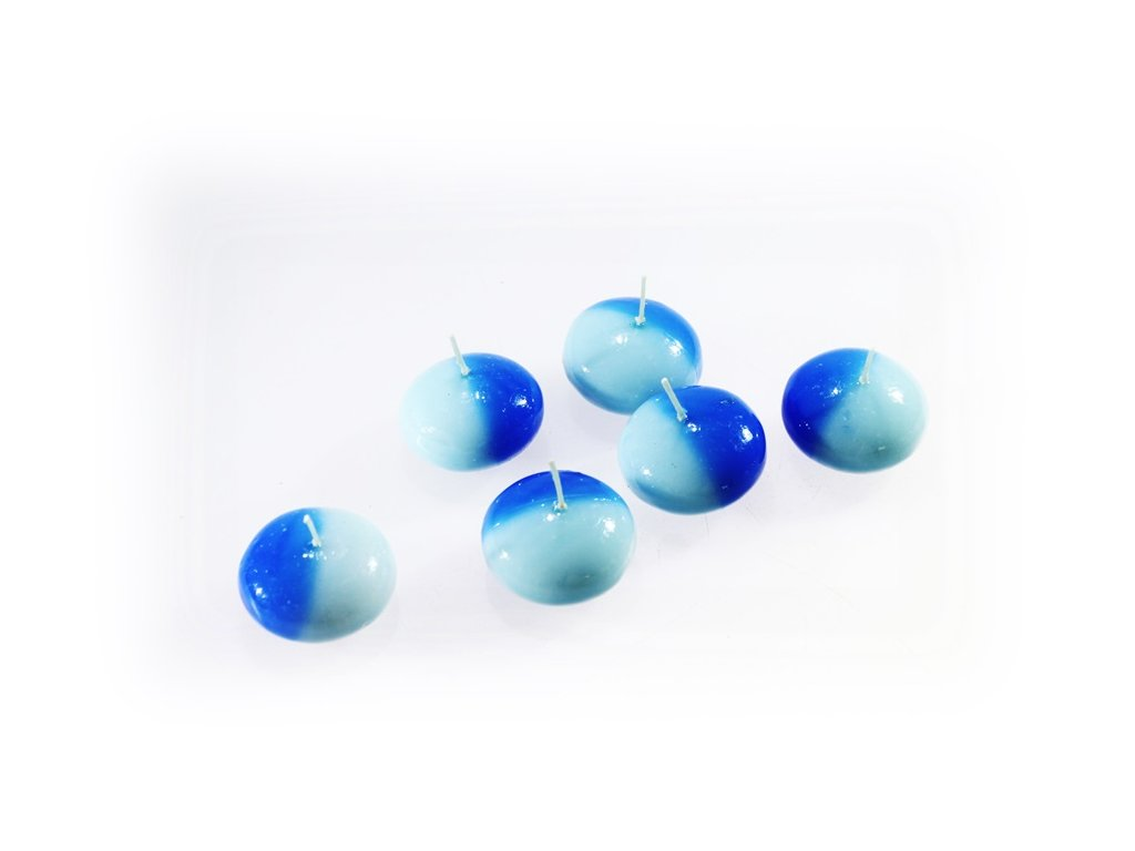 plovoucí svíčka modro modrá