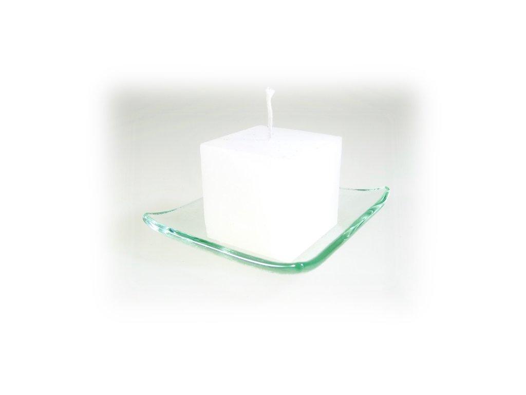 svíčka kostka bílá