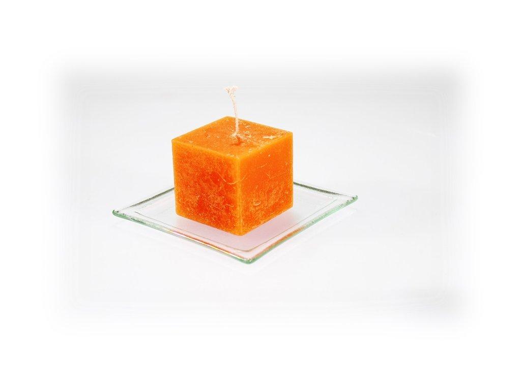 5x5cm svíčka oranžová