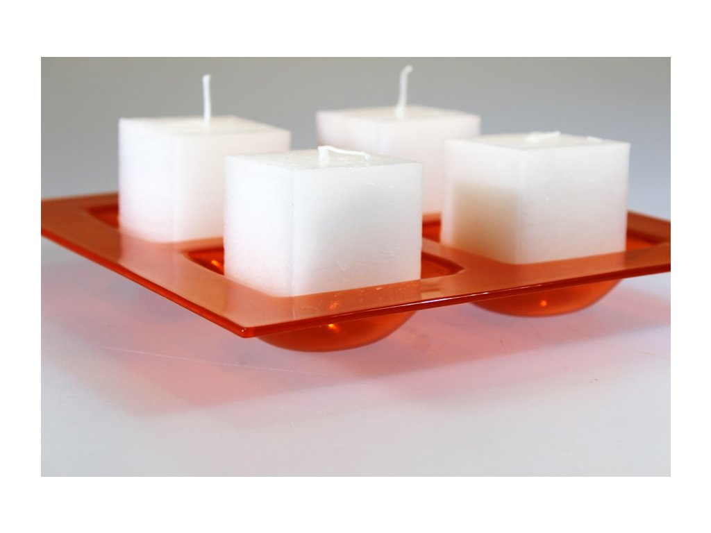 svíčka kostka červená