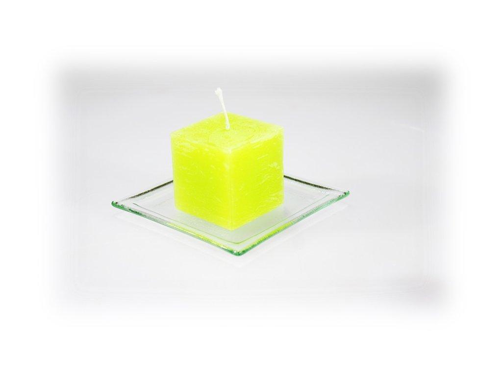 5x5cm svíčka světle zelená