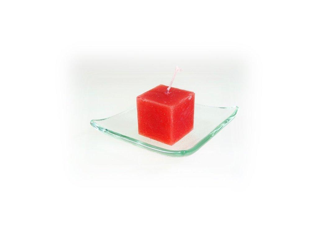 svíčka kostka malá červená