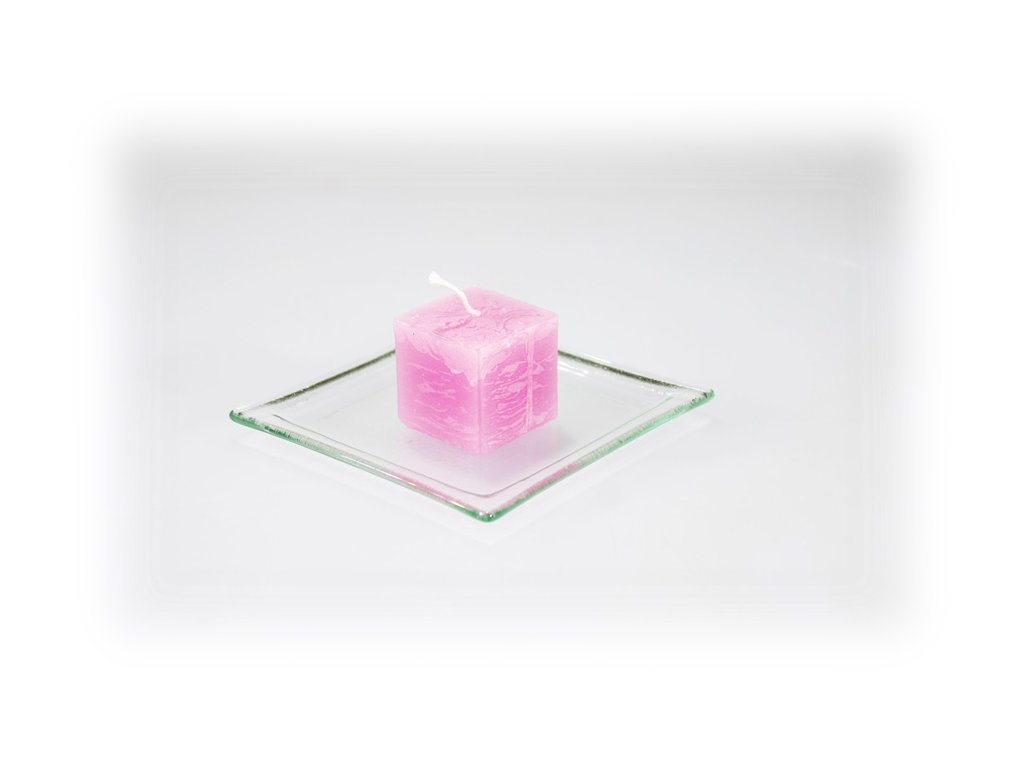 3,5x3,5 svíčka růžová