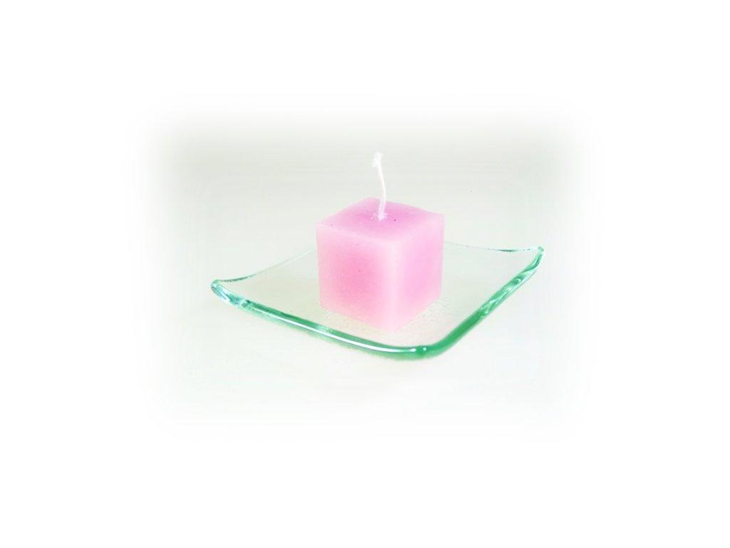 svíčka kostka malá růžová
