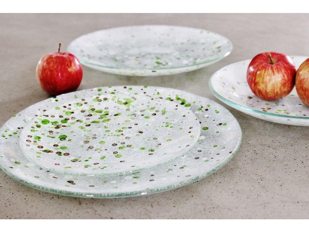 skleněné talíře lehané