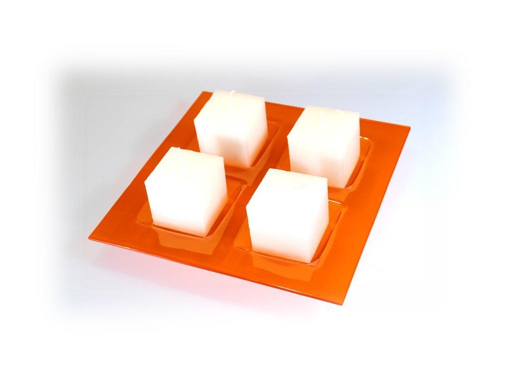 Oranžový svícen adventní