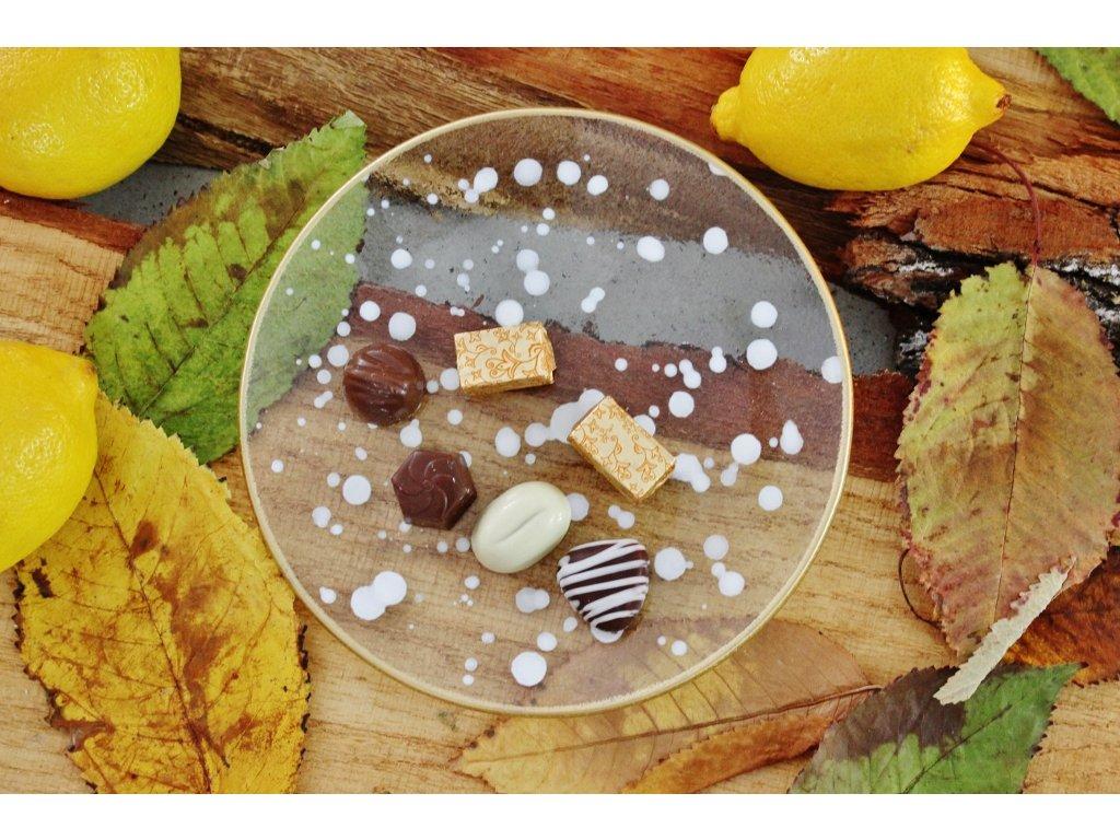 skleněný talířek