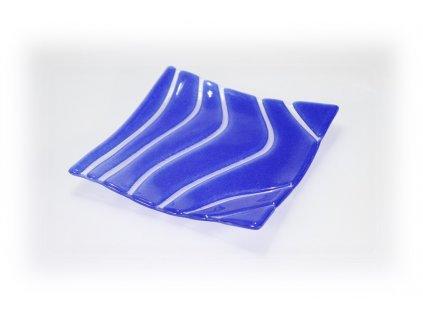 skleněná miska modrá