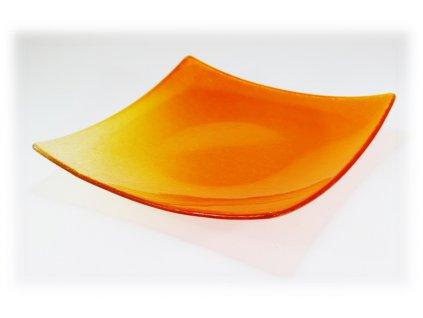 Mísa MATIZ čtvercová oranžová 30x30