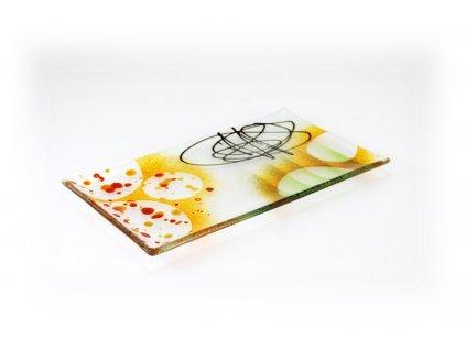 Abstraktní talíř 27x16cm