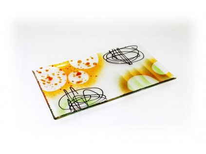 Abstraktní talíř 33x19cm