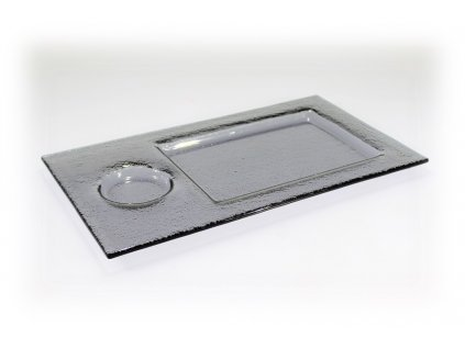 Tácek na sushi šedý 35x20cm