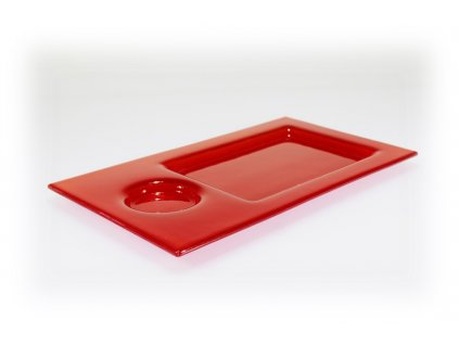 Tácek na sushi červený 35x20cm