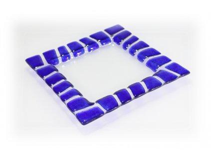 Tácek SAFARI 20x20cm modrý