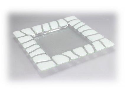 Tácek SAFARI 20x20cm bílý