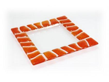Tácek SAFARI 20x20cm tmavě oranžový