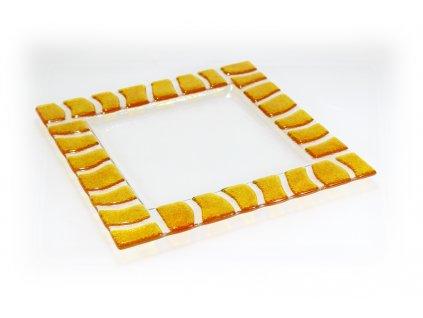 čtvercový talíř