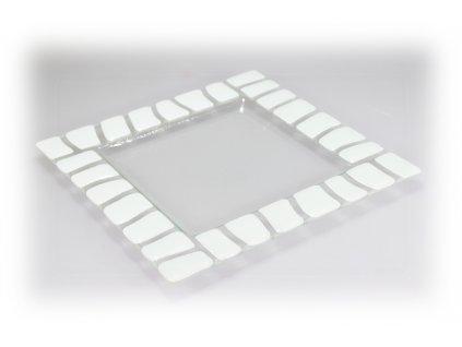 skleněný lehaný talíř fusing
