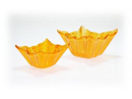 Skleněné mističky WINKY - oranžové