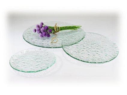 Kulaté skleněné talíře NATURE MOON