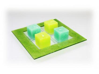 Adventní tác na 4 svíčky zelený