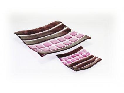 Skleněná dekorativní mísa OPTISCH - fialová