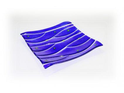 Skleněná dekorativní mísa OPTISCH - tmavě modrá