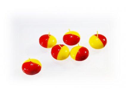 plovoucí svíčka žluto červená