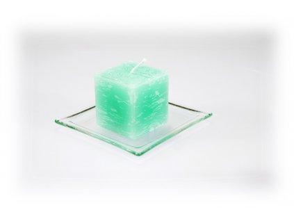 5x5cm svíčka tm.zelená