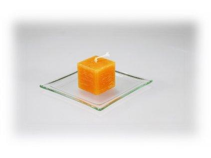 3,5x3,5 svíčka oranžová