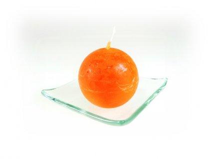 svíčka koule oranžová