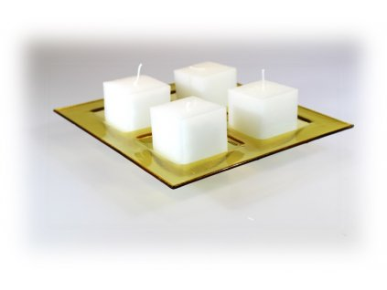Adventní čtvercový svícen - ambrový