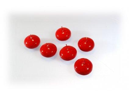 Plovoucí svíčka 6ks - červená