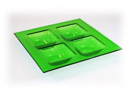 Zelený svícen adventní
