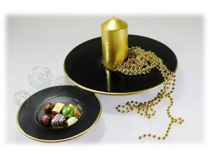 Svícen COSMOS se zlatým okrajem