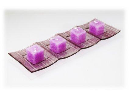 Svícen růžový na 4 svíčky