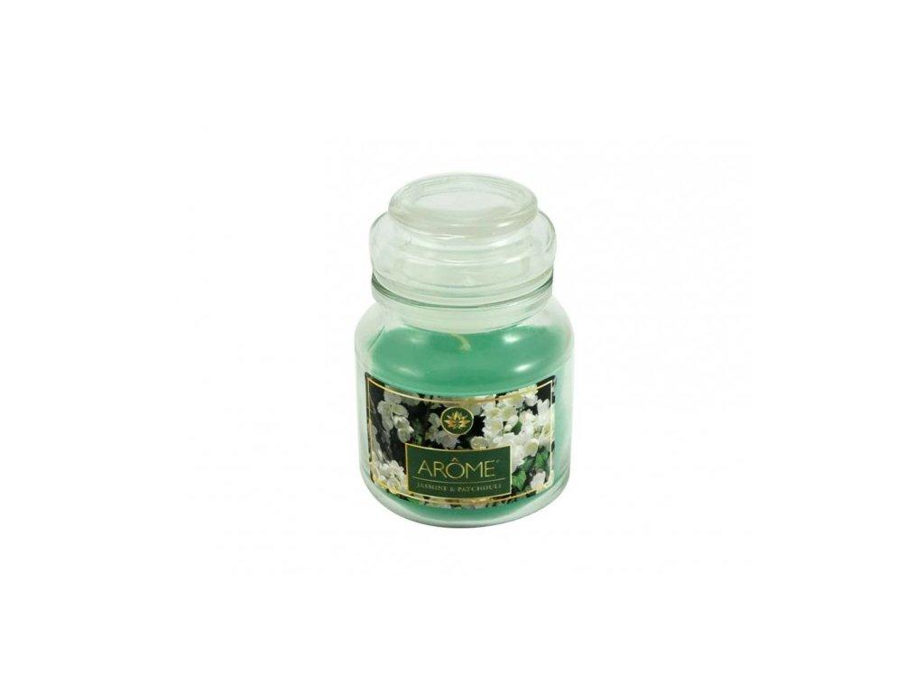 ARÔME - Jasmín & Patchouli - Vonná sviečka v skle 120 G