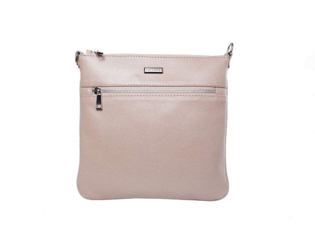 Béžová kožená kabelka