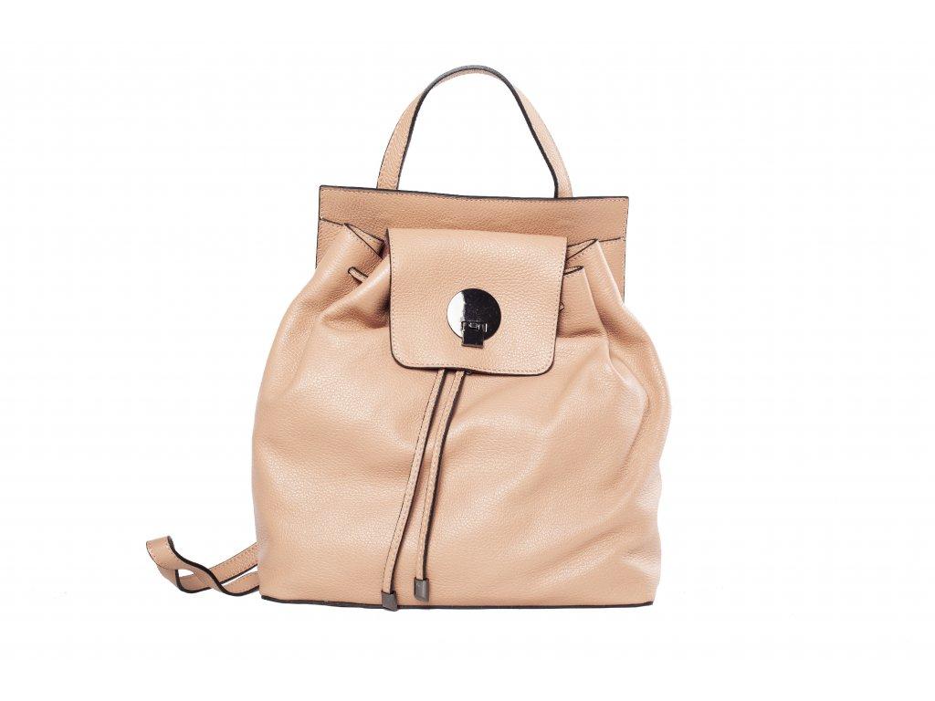 Béžový kožený batoh