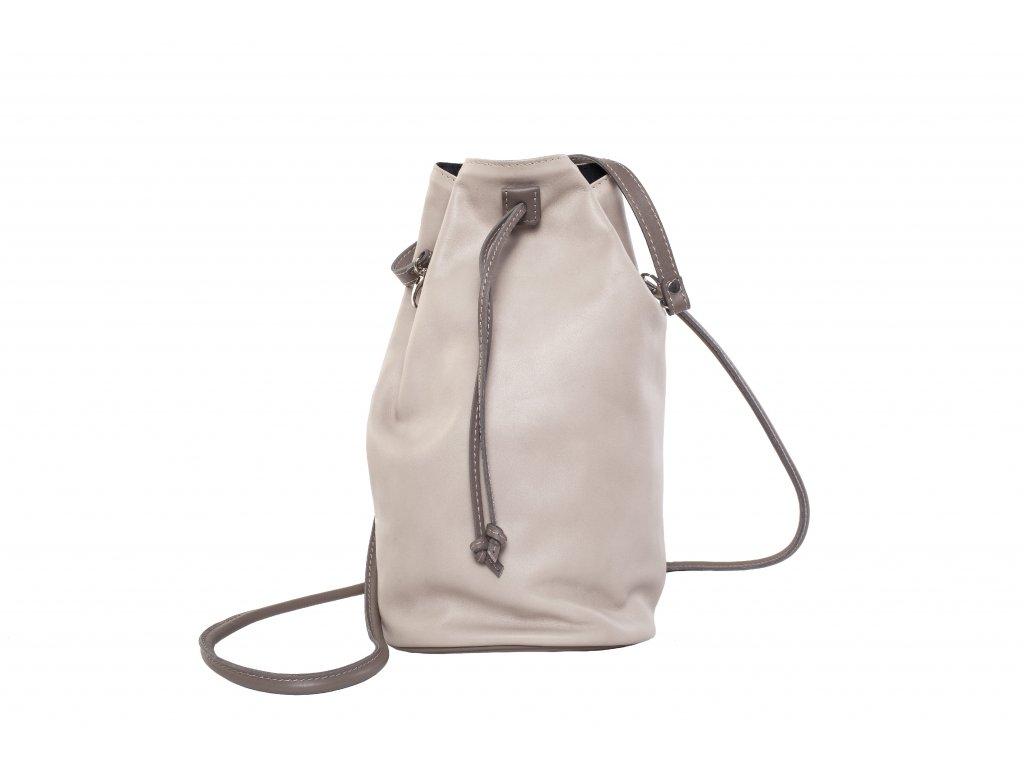 Béžový kožený batůžek