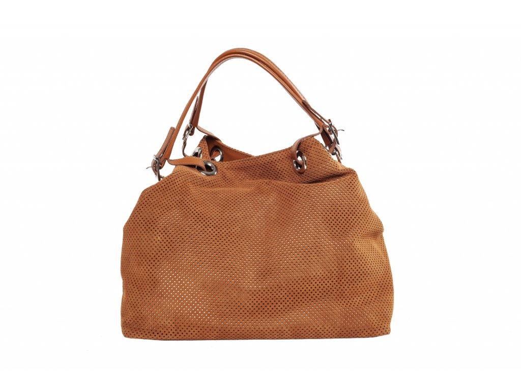 Hnedá kožená kabelka