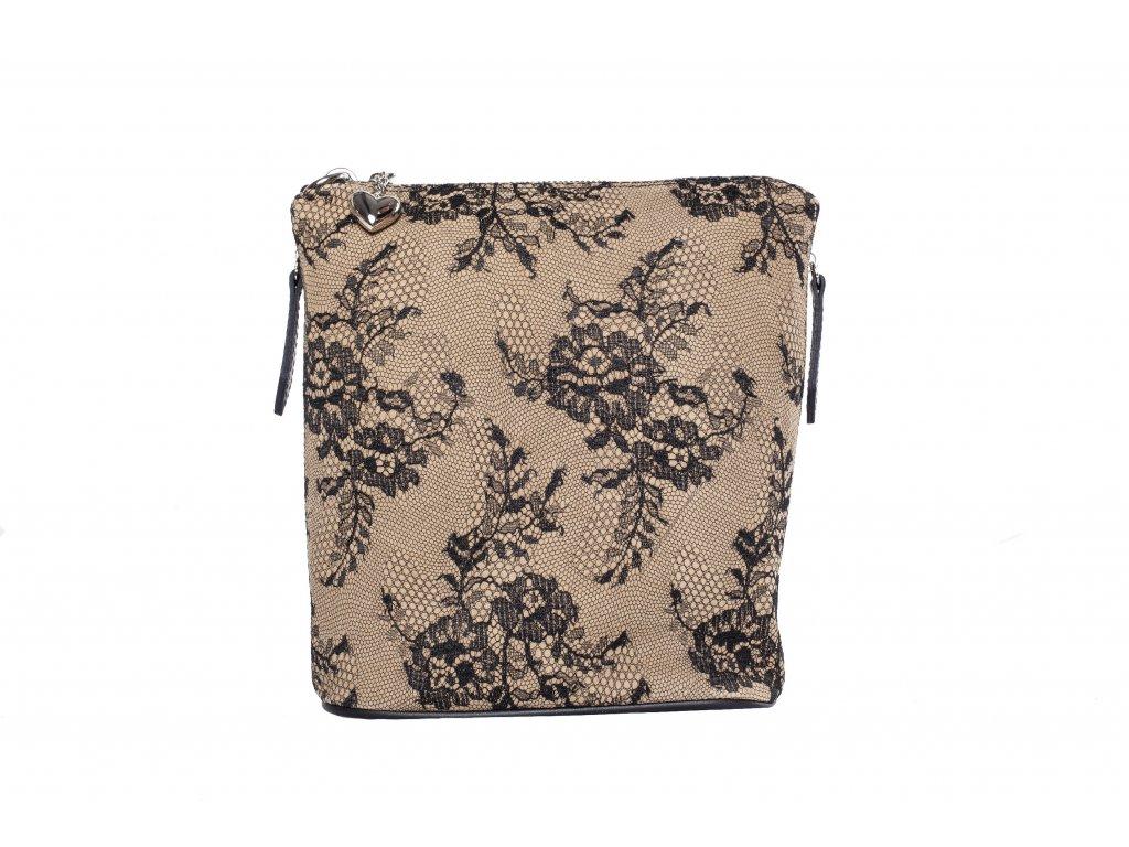 Krajková kožená kabelka