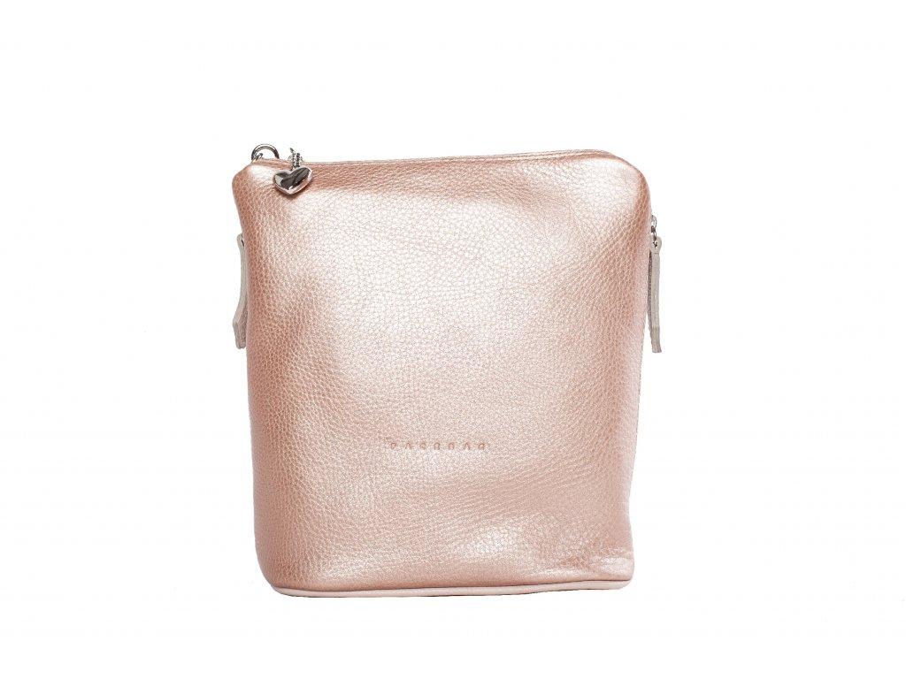Rosegold kožený kabelka