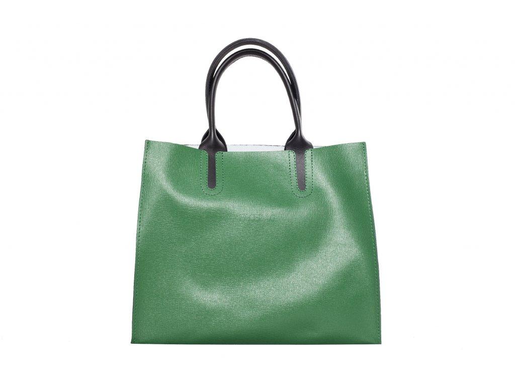 Zelená kožená kabelka